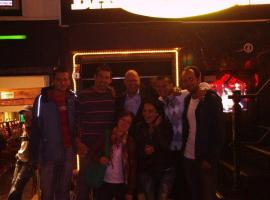 Group have a fun in the most popular club in Amsterdam.