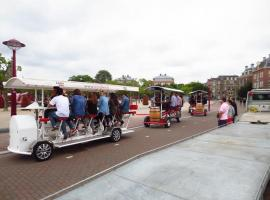 Sightseeing and party beer bikes in Amsterdam