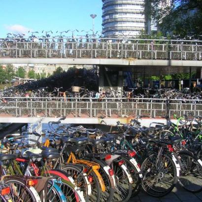 Thousands of bikes in Amsterdam