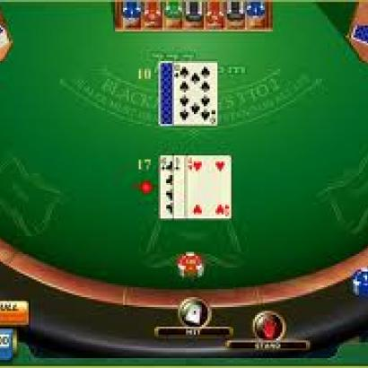 Different types of games in large casino.