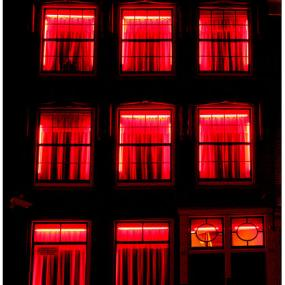 Red Lighted Windows in Red LIght District