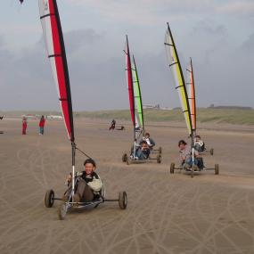 Have a fun on beach on blow kart.