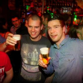 Pub crawl during stag weekend in amsterdam